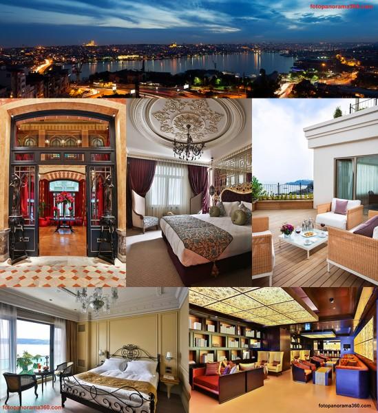 Çekimlerimizden Bazı İSTANBUL OTELLERİ / Zorlu Grand Hotel – Pera Palas – Daru Sultan Hotels – Park Hotel Taksim - Central Palace Tarabya